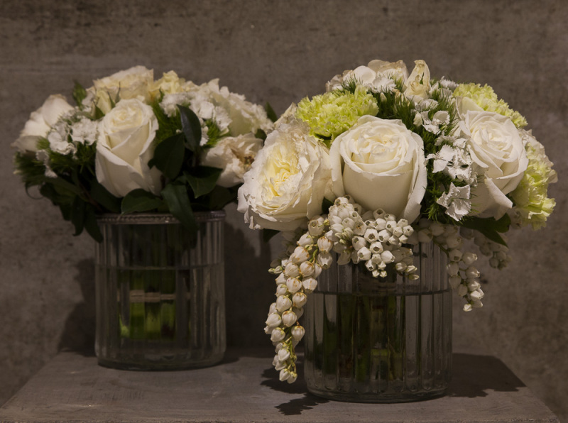 Posy Jar Table Arrangements