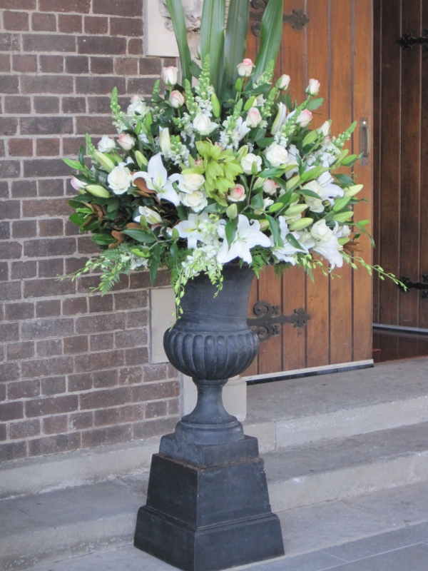 Large Urn Church Entry Arrangement